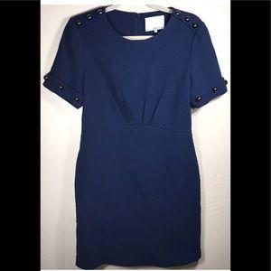 3.1 Philip Lim blue wool silk lined dress Sz 8